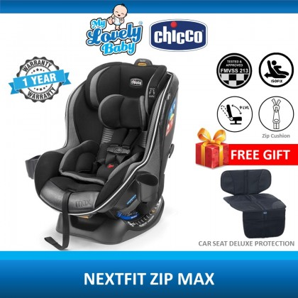 Chicco Nextfit Zip Max Isofix Car Seat (Free Chicco Seat Protector) [Use RM300 Coupon: CHICCOVIP]