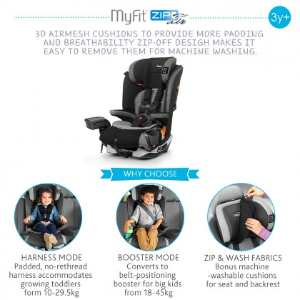 Chicco MyFit Zip Air Isofix Booster Car Seat
