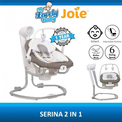 Joie Serina 2-in-1 Swing (Free Chicco Multi-Surface Spray + Comfy Blanket)