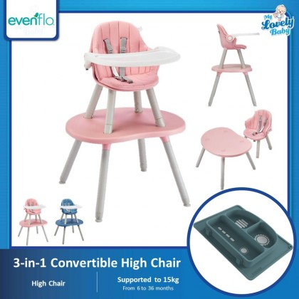Evenflo Switchup 3 in 1 Convertible Highchair (Free Bammax Silicone Plate)