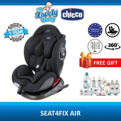 Chicco Seat4Fix Air 360 Spin Isofix Car Seat (Free Chicco RM350 Gift Set)  [Use Coupon: CHICCOXTRA]