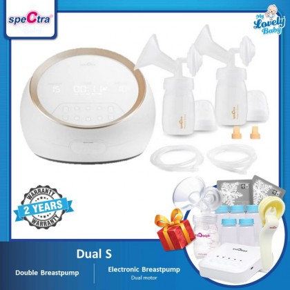 Spectra Dual S Hospital Grade Double Breastpump (Free Spectra Q+PP Bottles+Manual Switch Kit+Ice Pack x2)